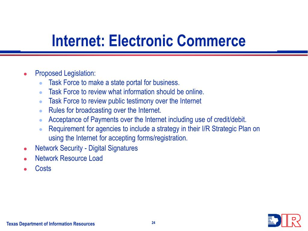 Internet: Electronic Commerce