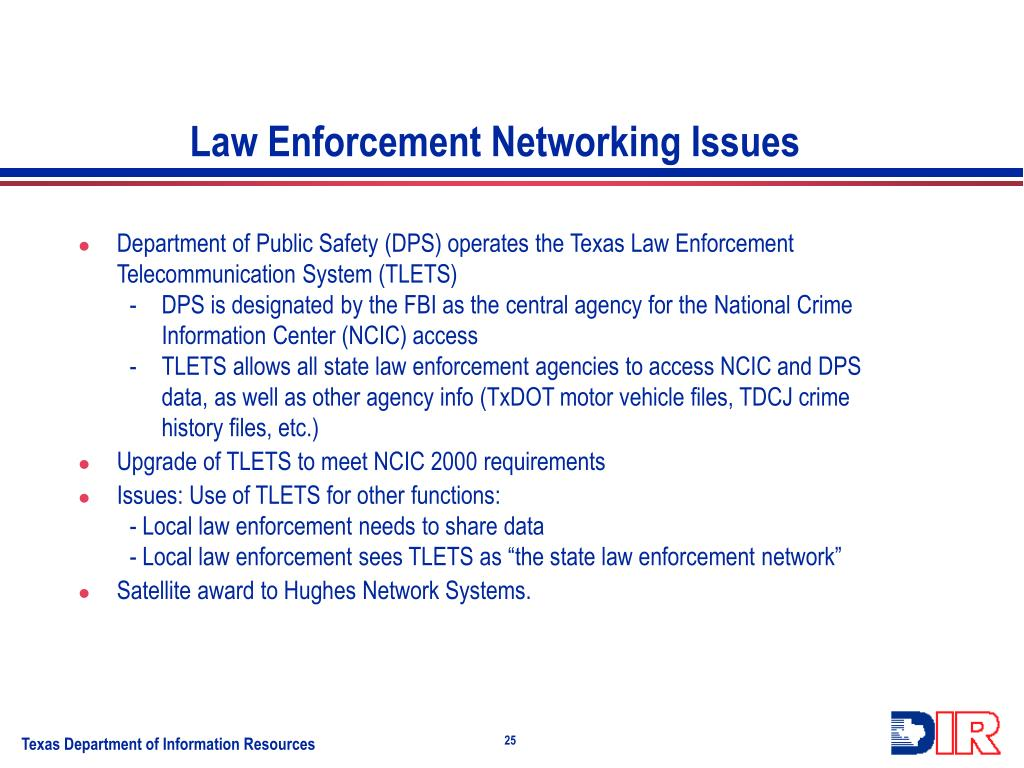 Law Enforcement Networking Issues