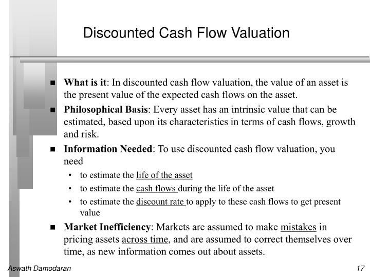 Discounted Cash Flow Valuation