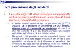ivd prevenzione degli incidenti
