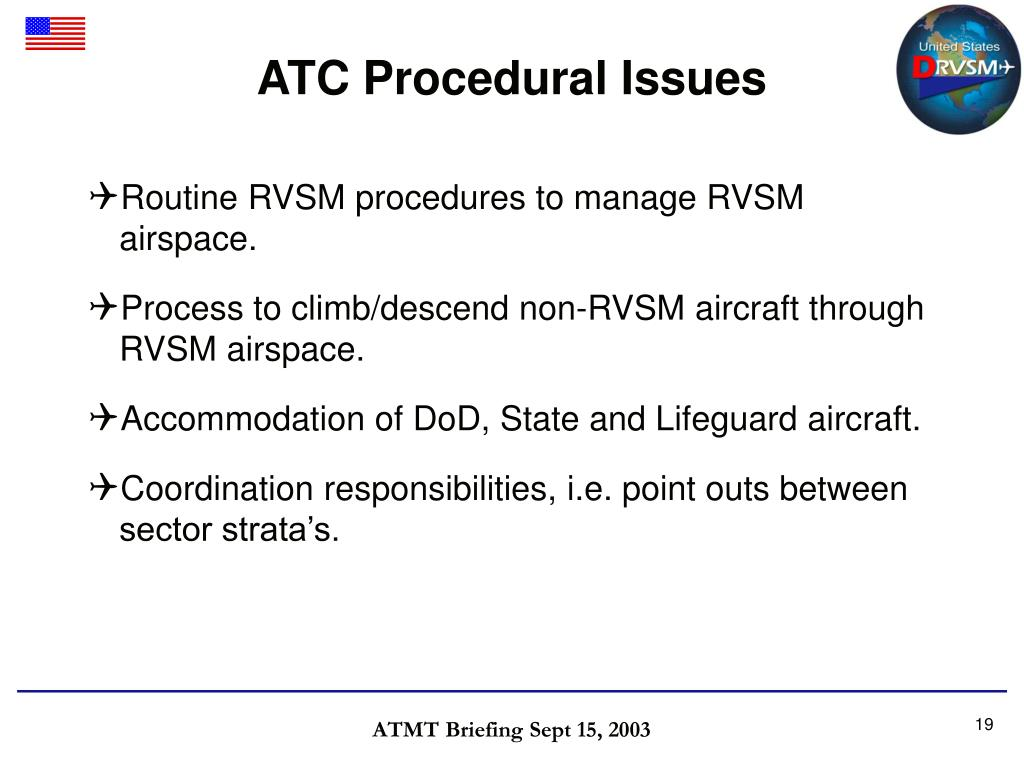 ATC Procedural Issues