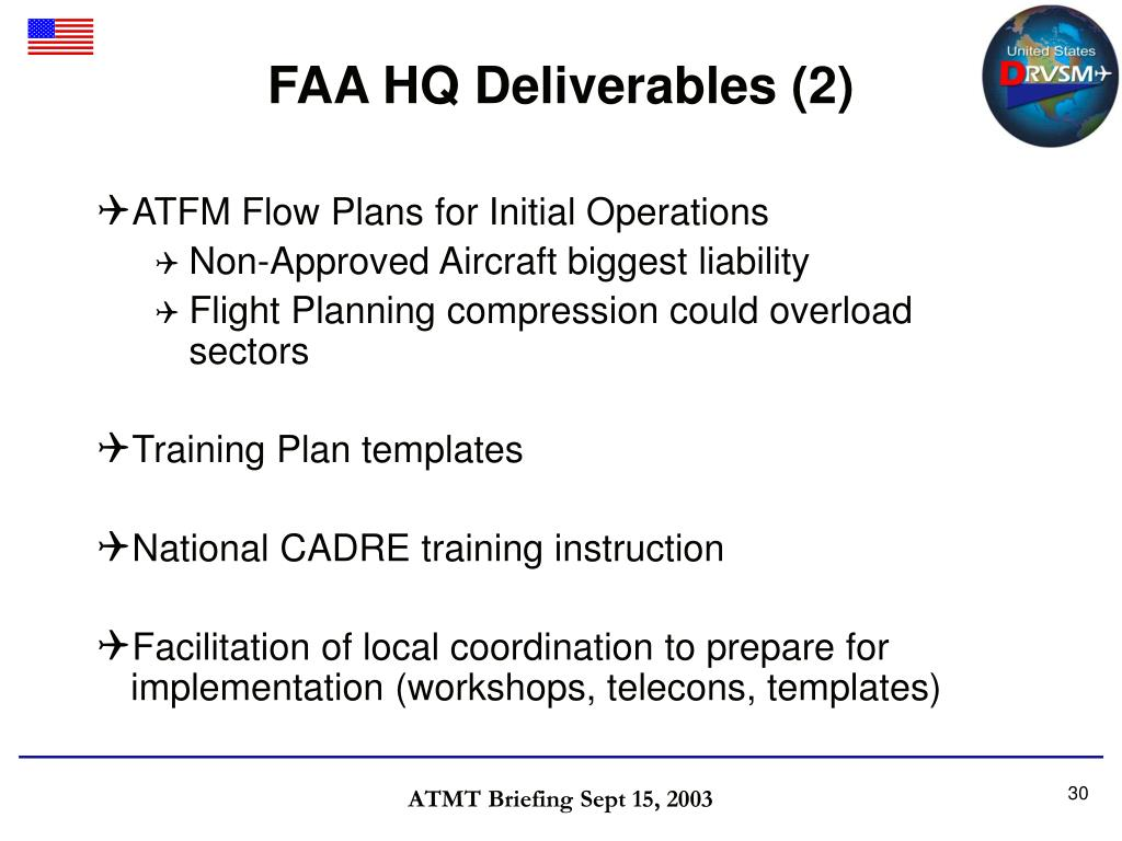 FAA HQ Deliverables (2)
