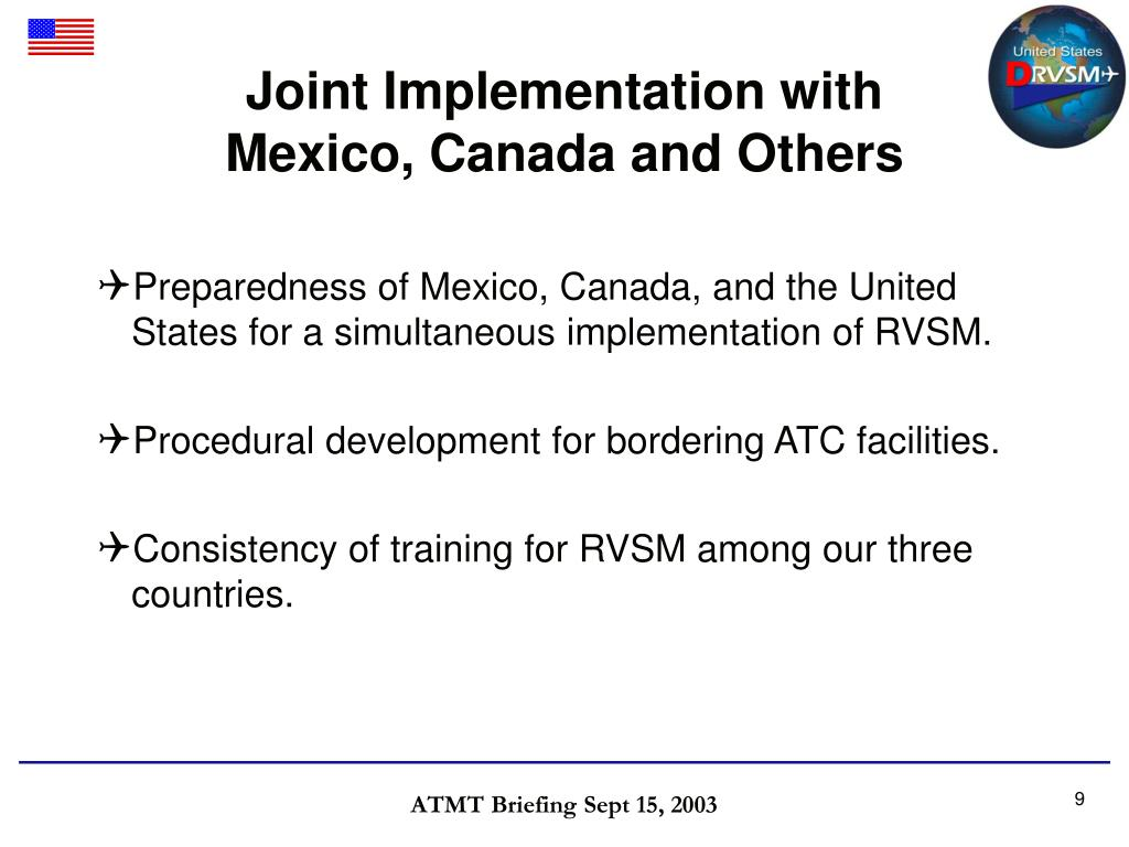 Joint Implementation with Mexico, Canada and Others