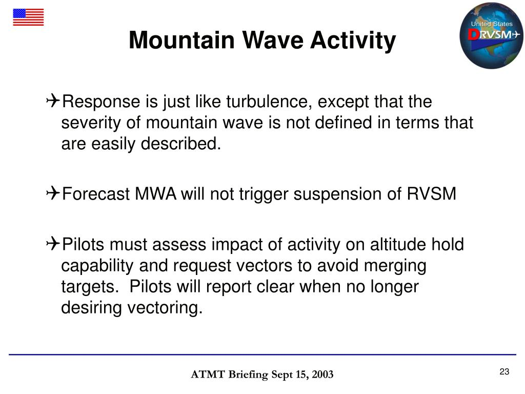 Mountain Wave Activity