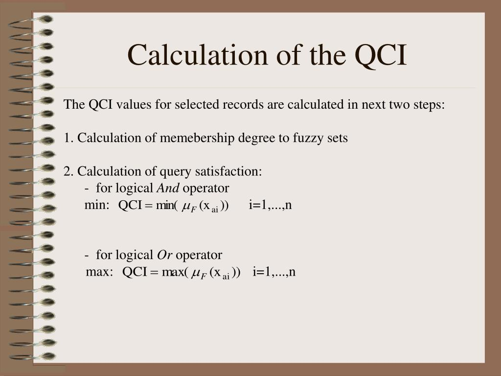 Calculation of the QCI