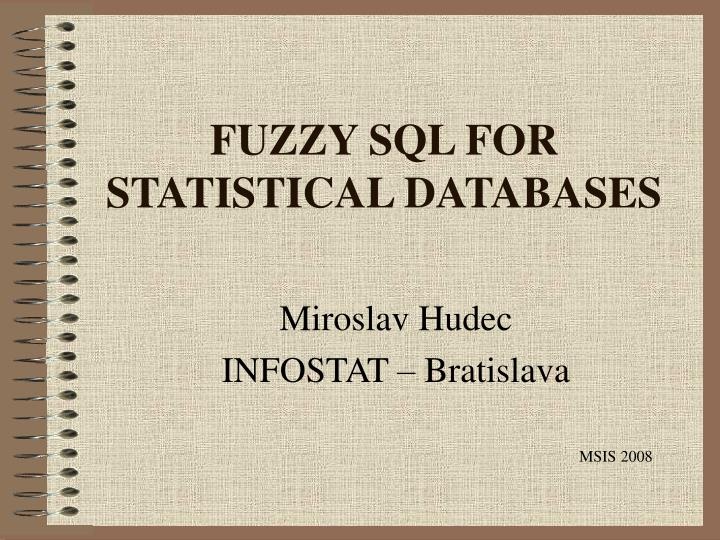 Fuzzy sql for statistical databases l.jpg