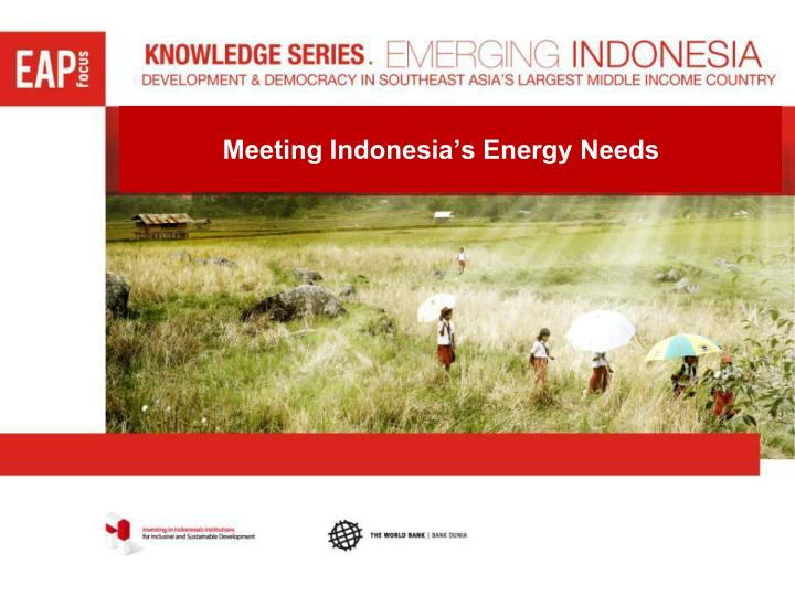 Meeting Indonesia's Energy Needs