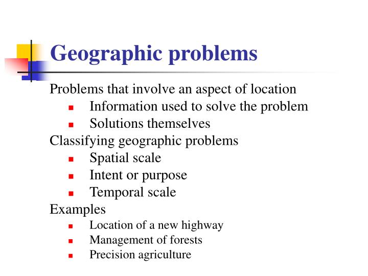 Geographic problems
