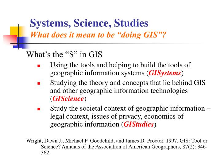 Systems, Science, Studies