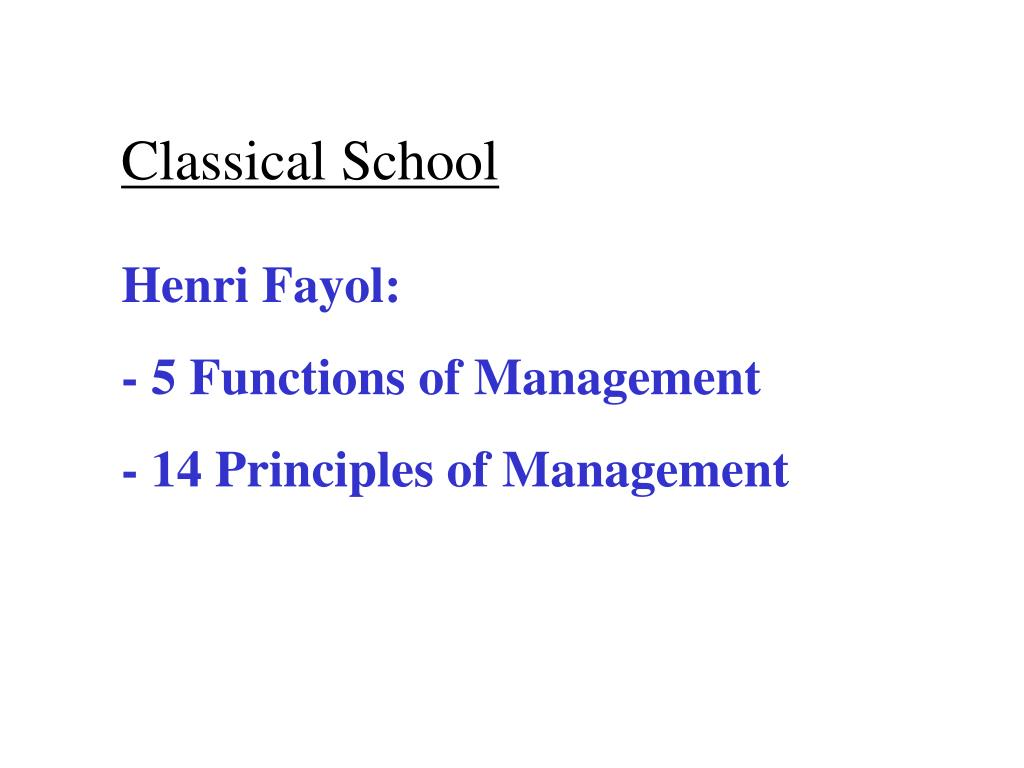 management analysis using classical theory and fayols functions of management