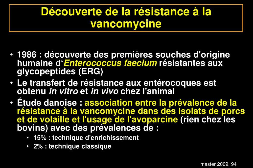 Découverte de la résistance à la vancomycine
