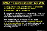 emea points to consider july 2000