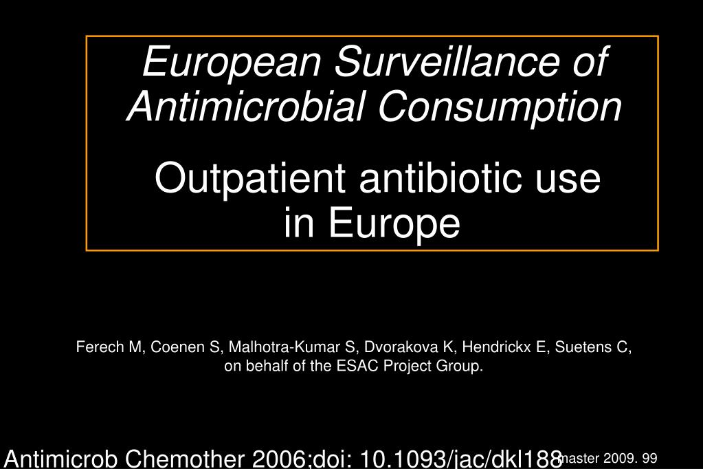 European Surveillance of Antimicrobial Consumption