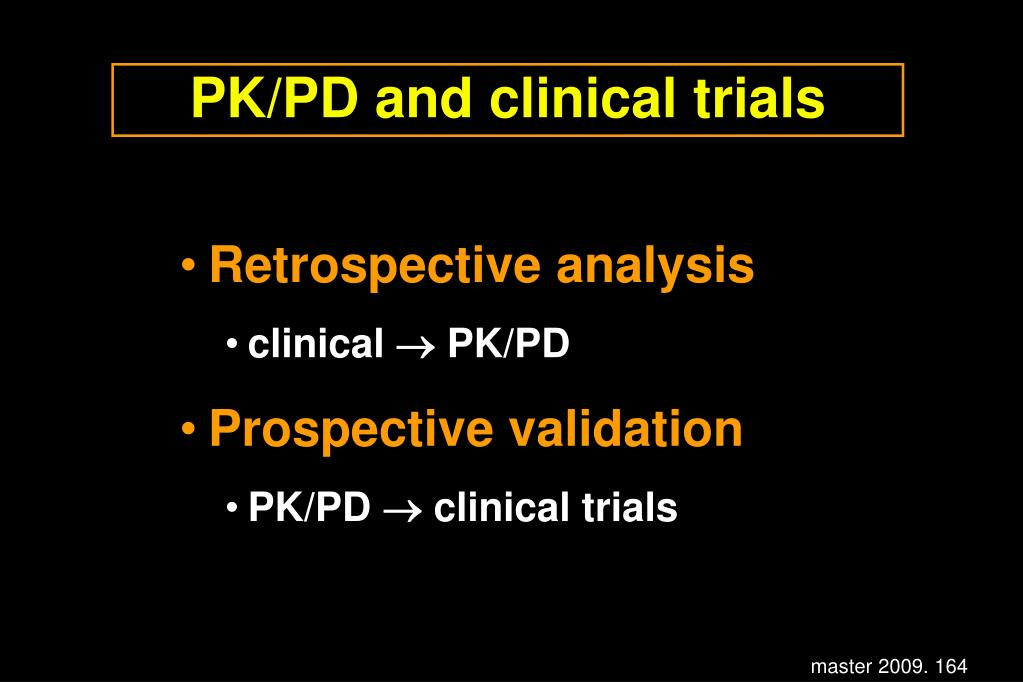 PK/PD and clinical trials