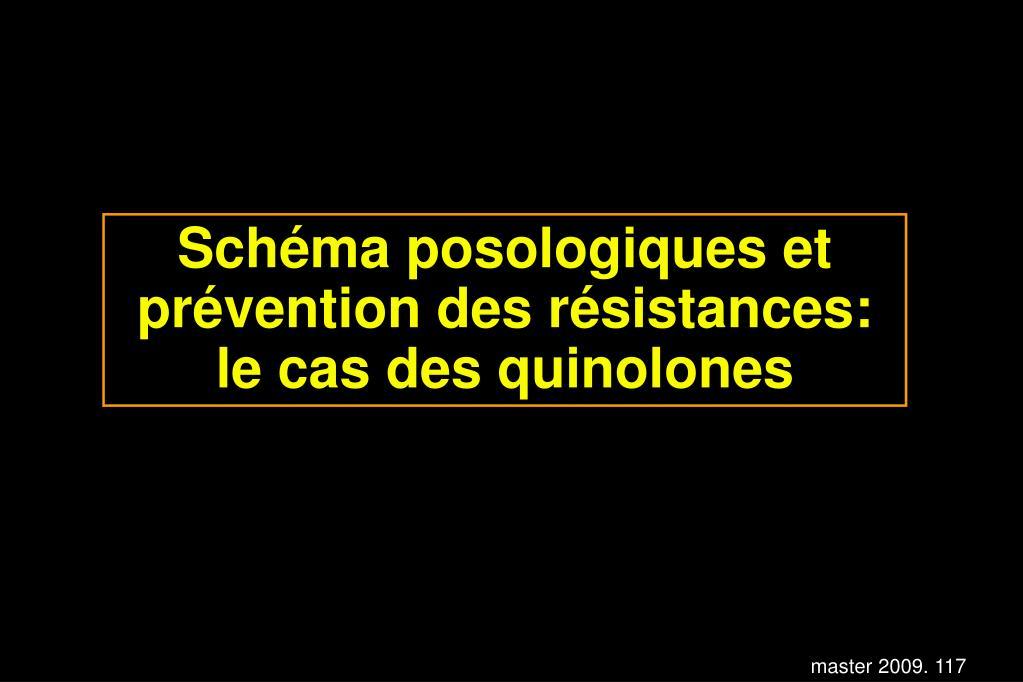 Schéma posologiques et prévention des résistances: le cas des quinolones