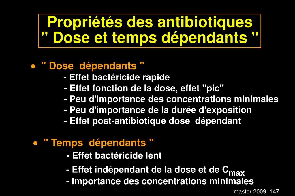 Propriétés des antibiotiques