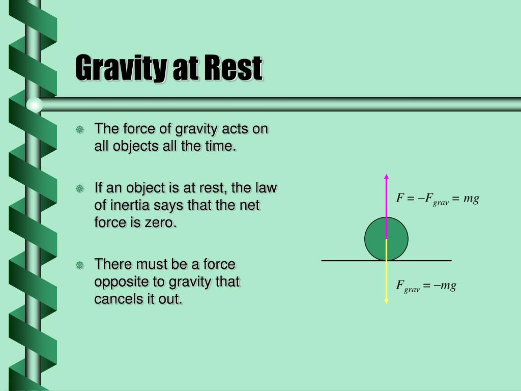 Gravity at Rest