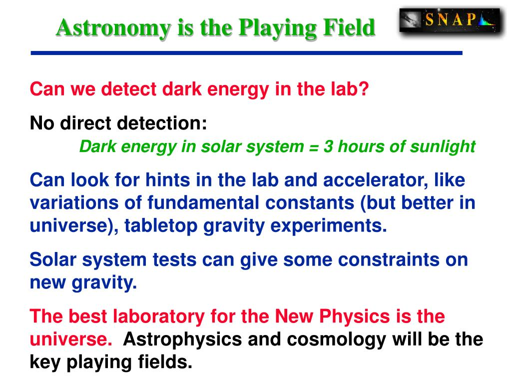 Astronomy is the Playing Field