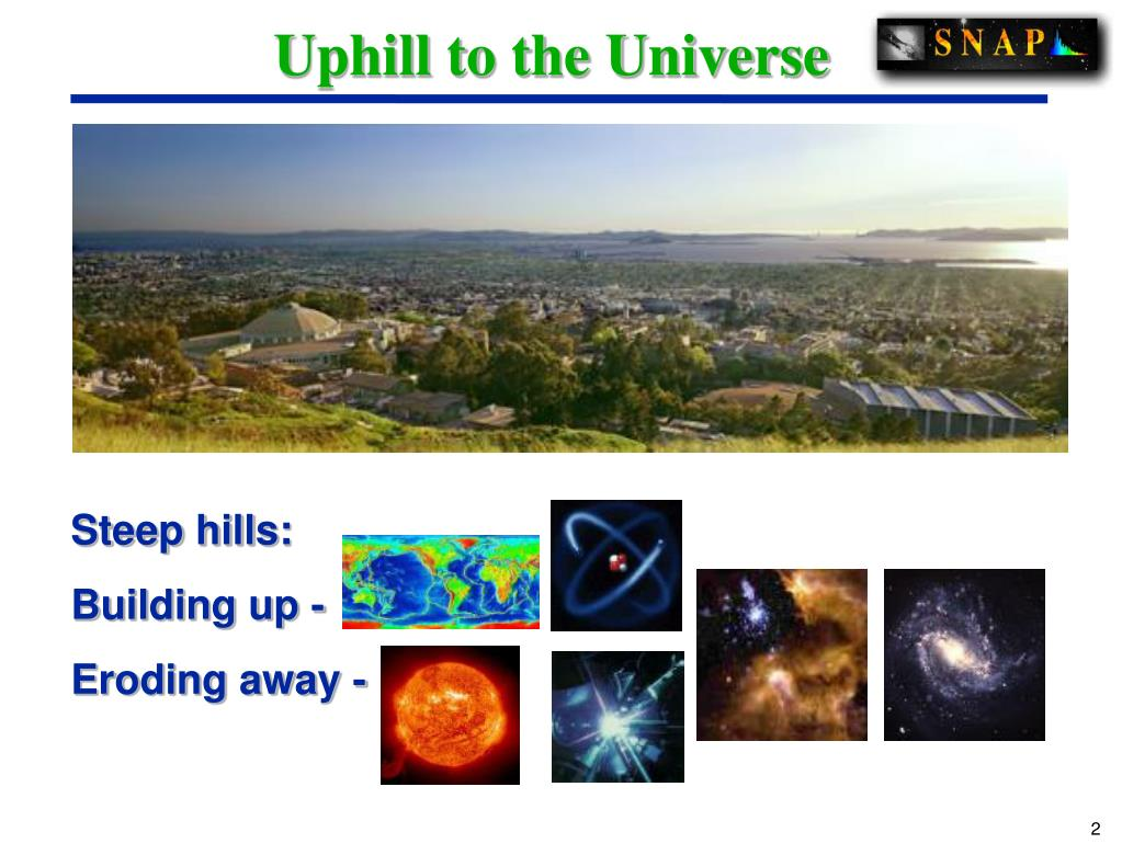Uphill to the Universe