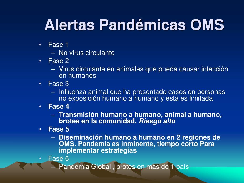 Alertas Pandémicas OMS