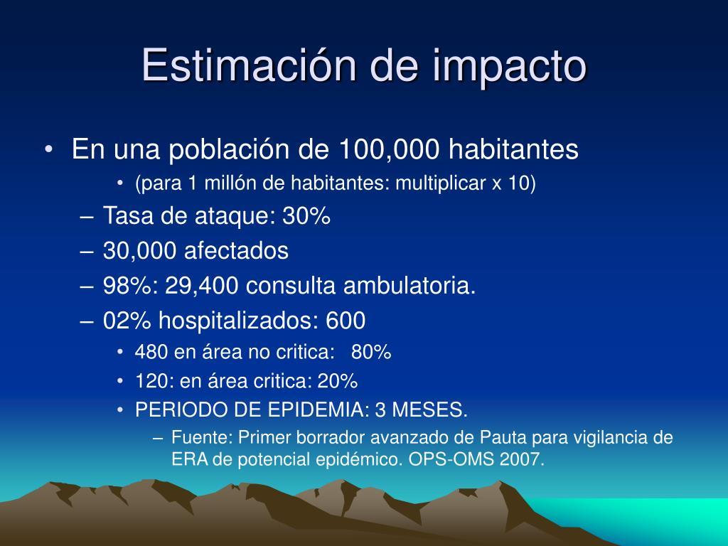 Estimación de impacto