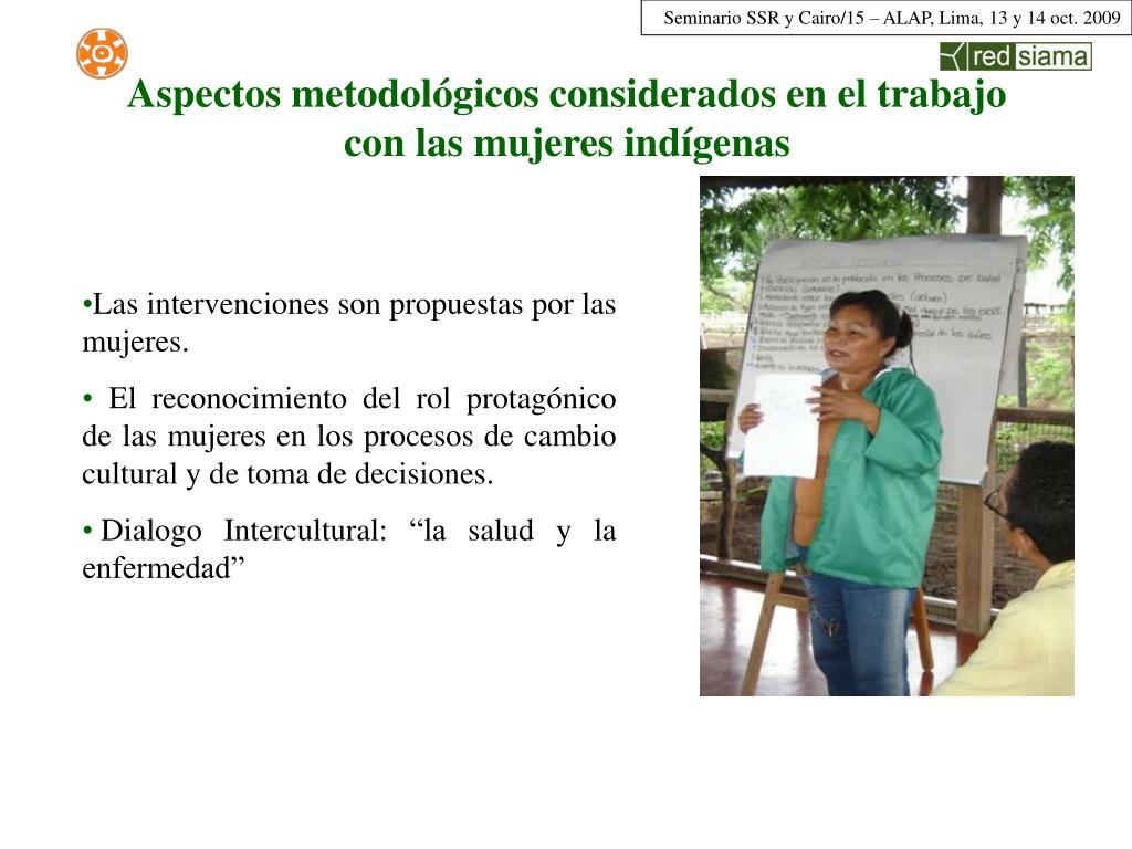 Aspectos metodológicos considerados en el trabajo