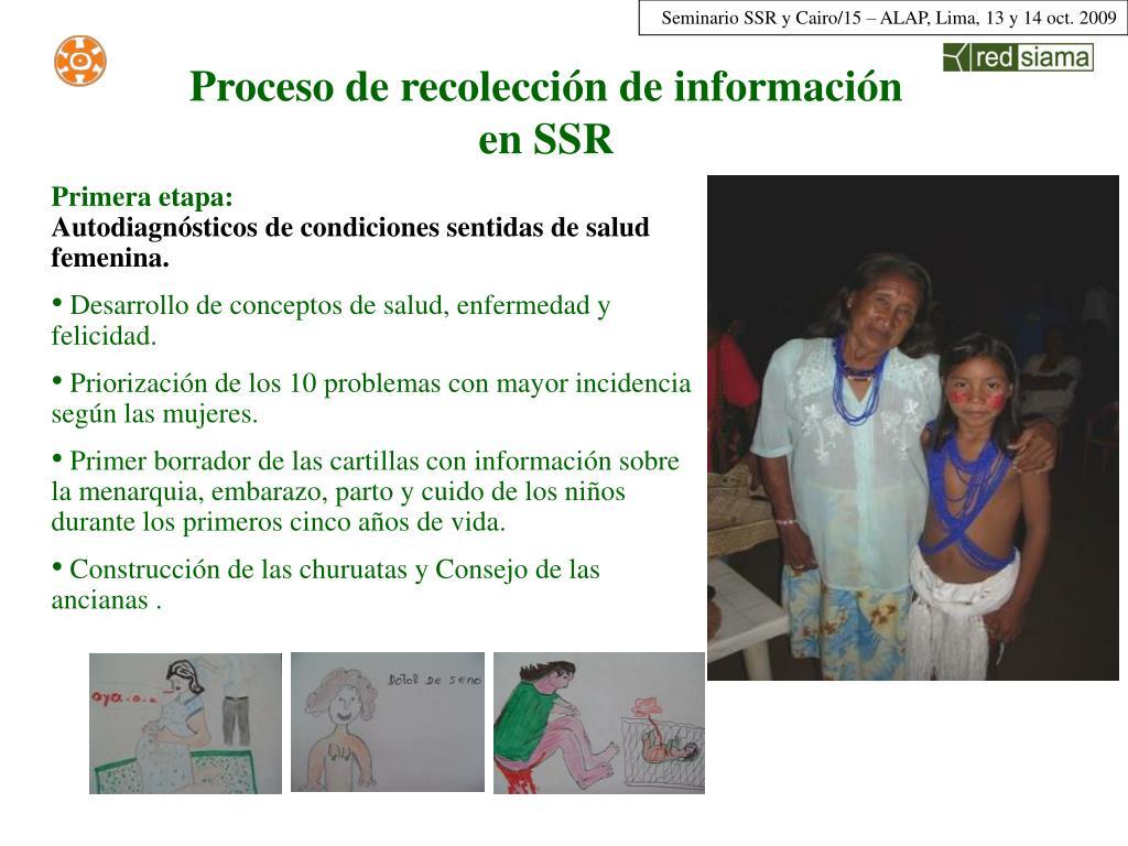 Proceso de recolección de información en SSR