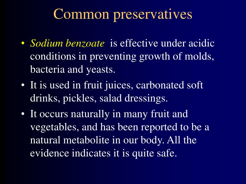 Common preservatives