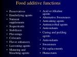 food additive functions