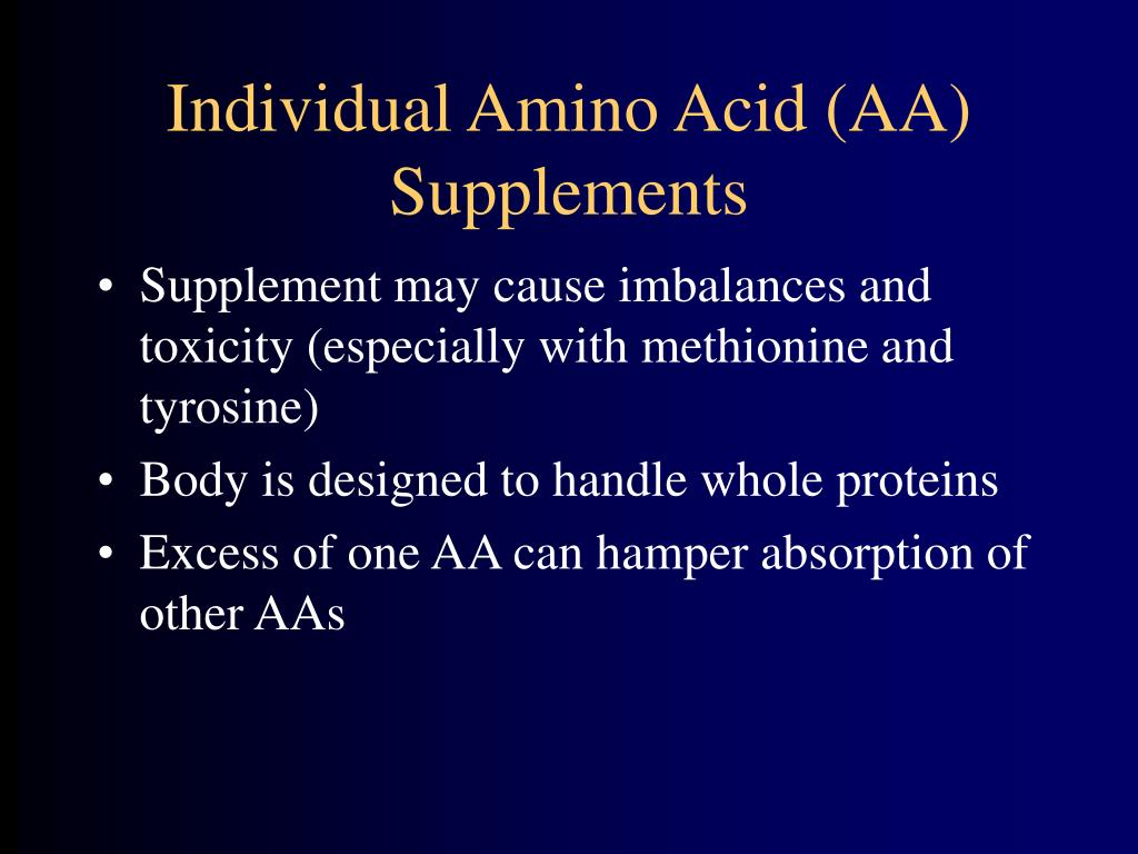 Individual Amino Acid (AA) Supplements