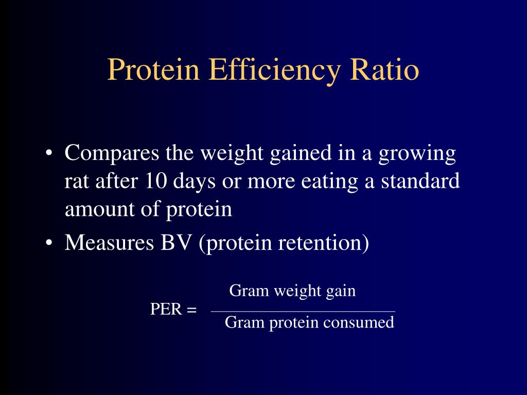 Protein Efficiency Ratio