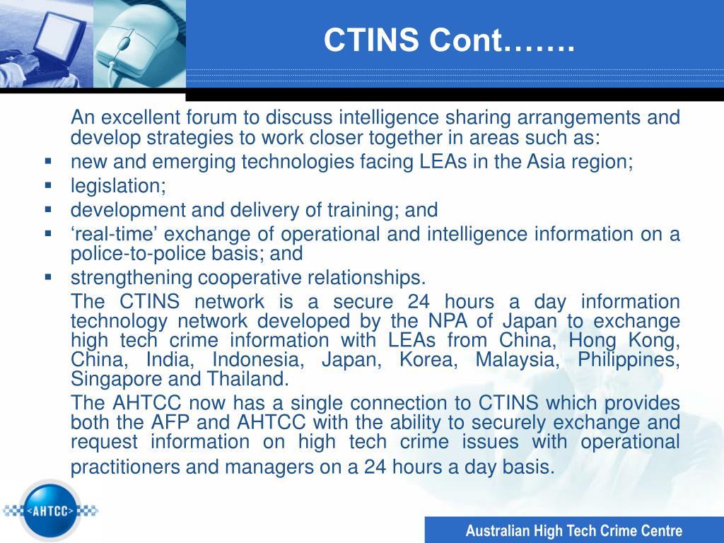 CTINS Cont…….