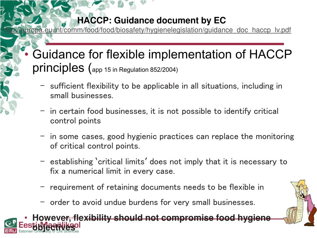 PPT - HACCP and Food Hygiene in Small Business. PowerPoint ...