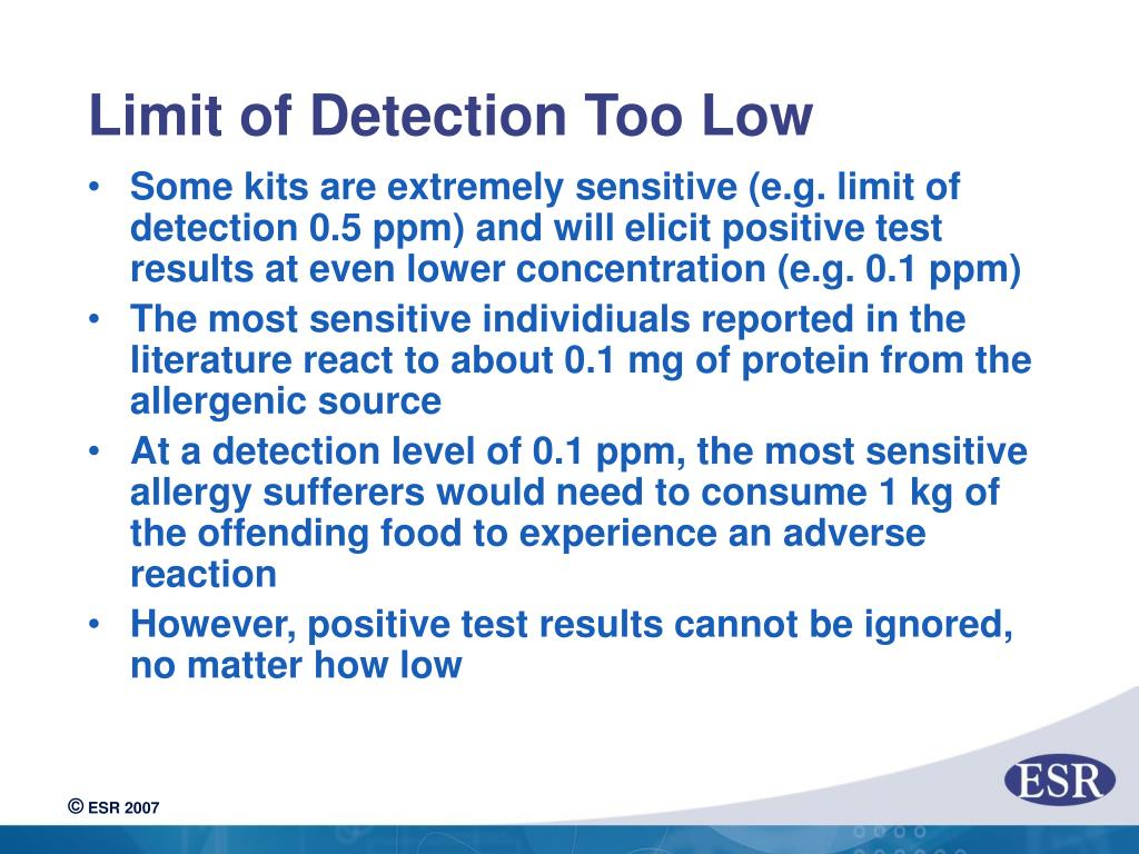 Limit of Detection Too Low