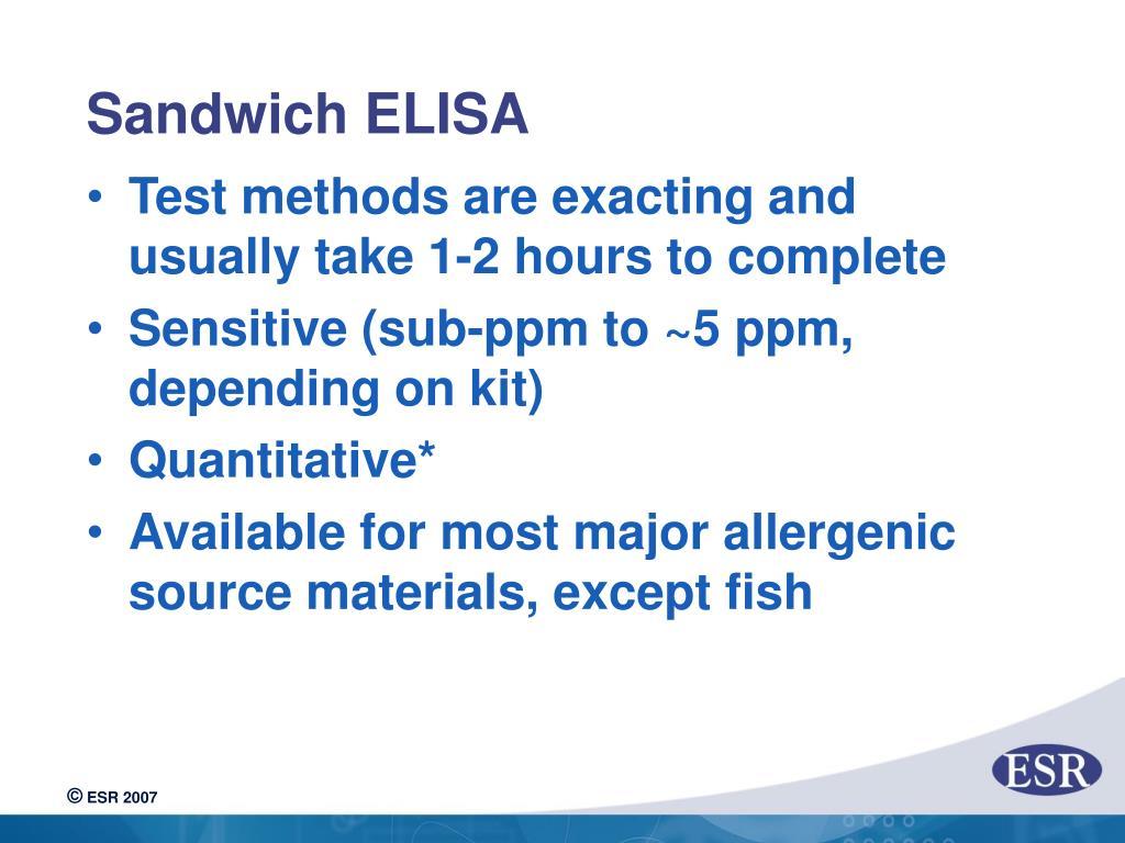 Sandwich ELISA