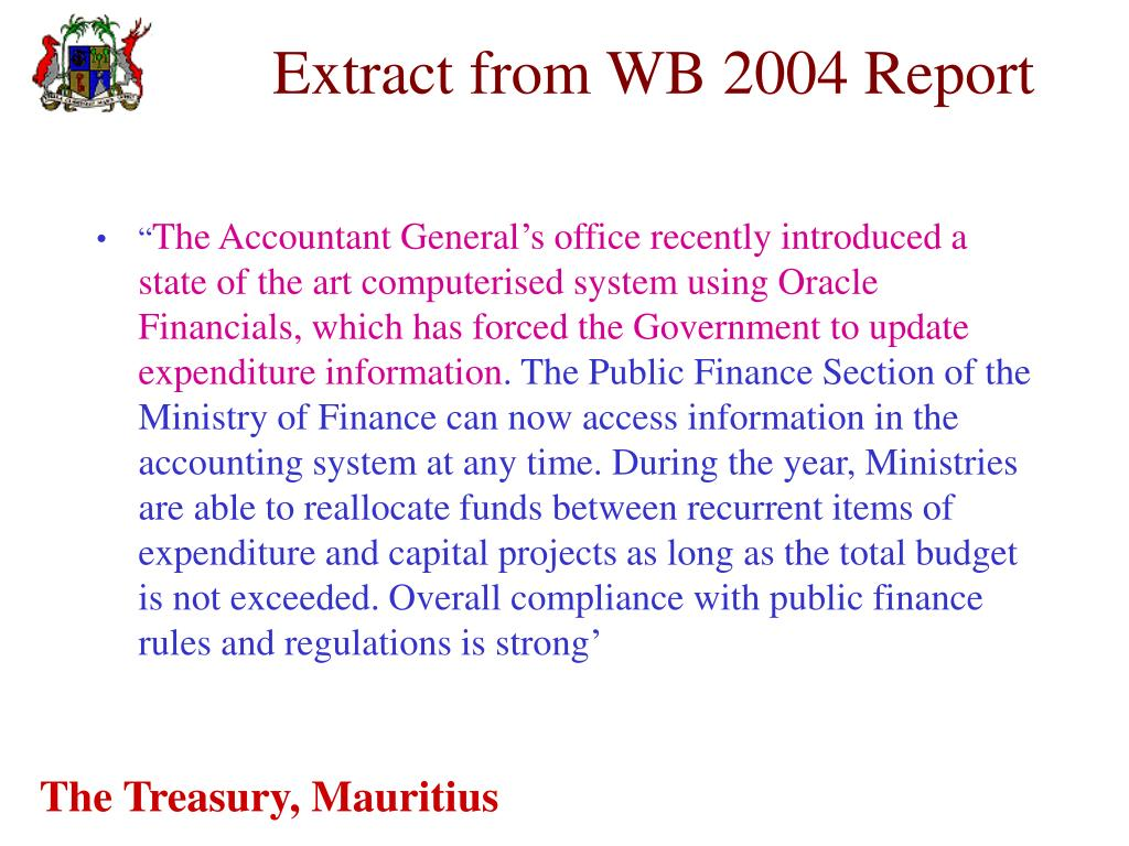 Extract from WB 2004 Report
