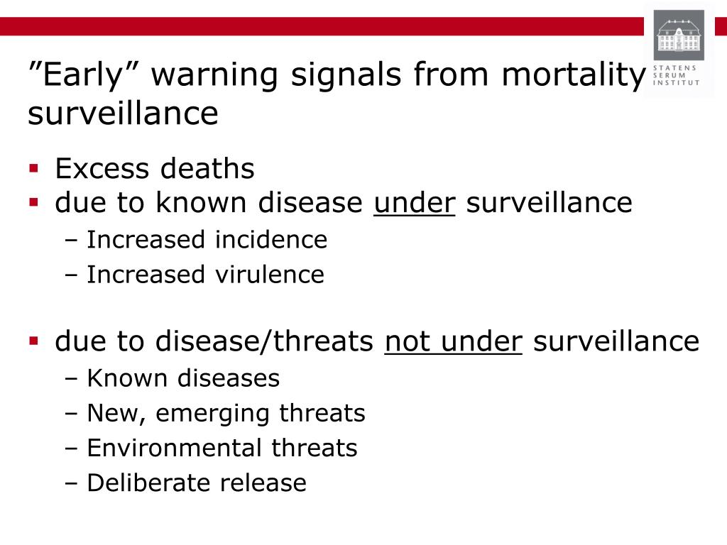 """Early"" warning signals from mortality surveillance"