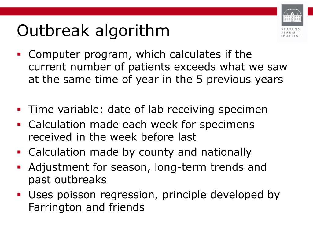 Outbreak algorithm