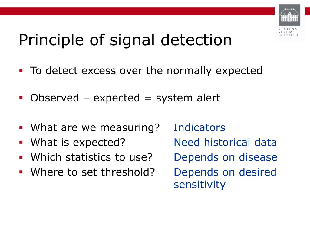 Principle of signal detection