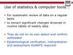 use of statistics computer tools