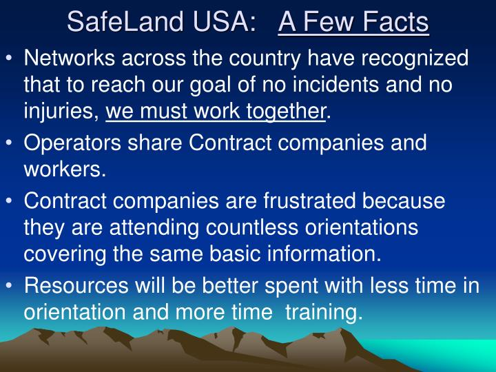 Safeland usa a few facts