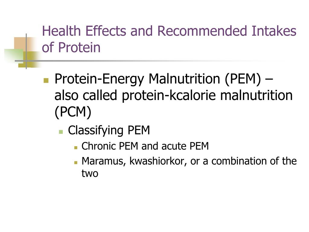Health Effects and Recommended Intakes of Protein