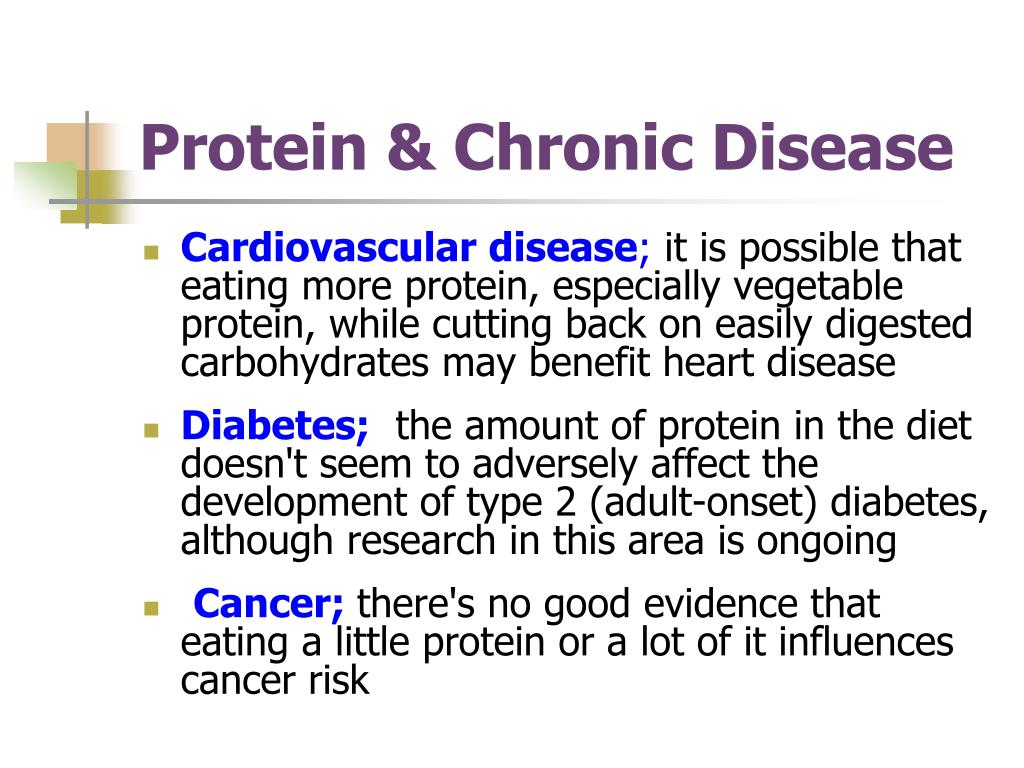 Protein & Chronic Disease