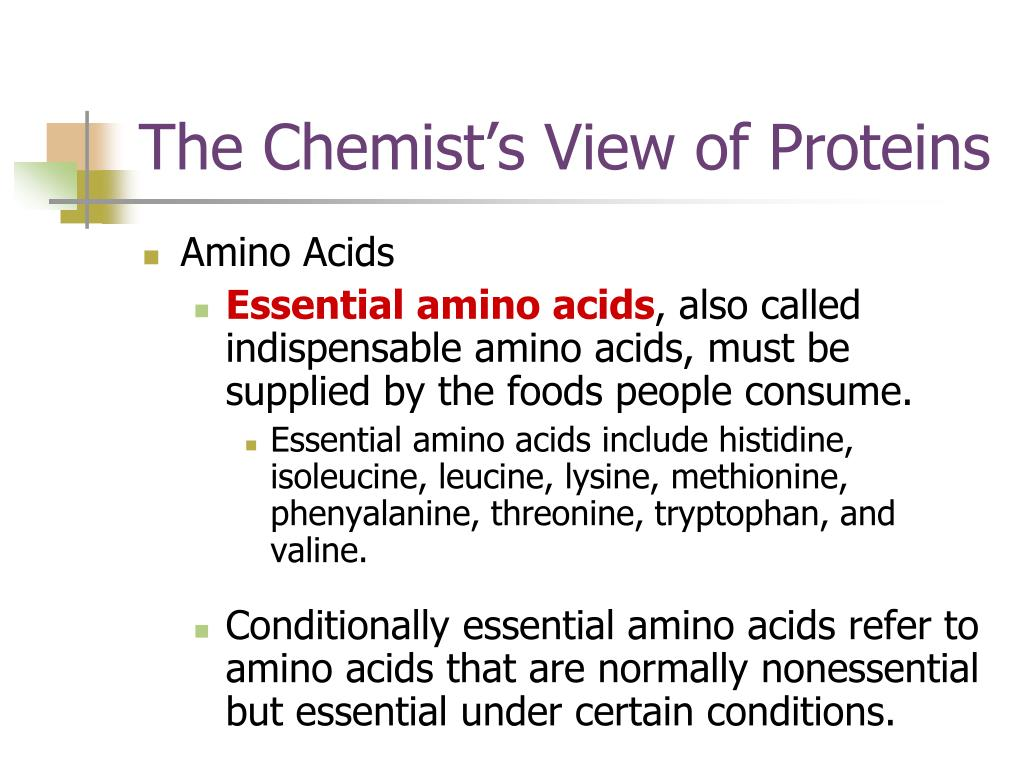 The Chemist's View of Proteins
