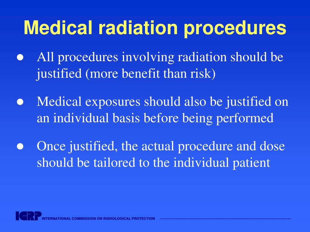 Medical radiation procedures