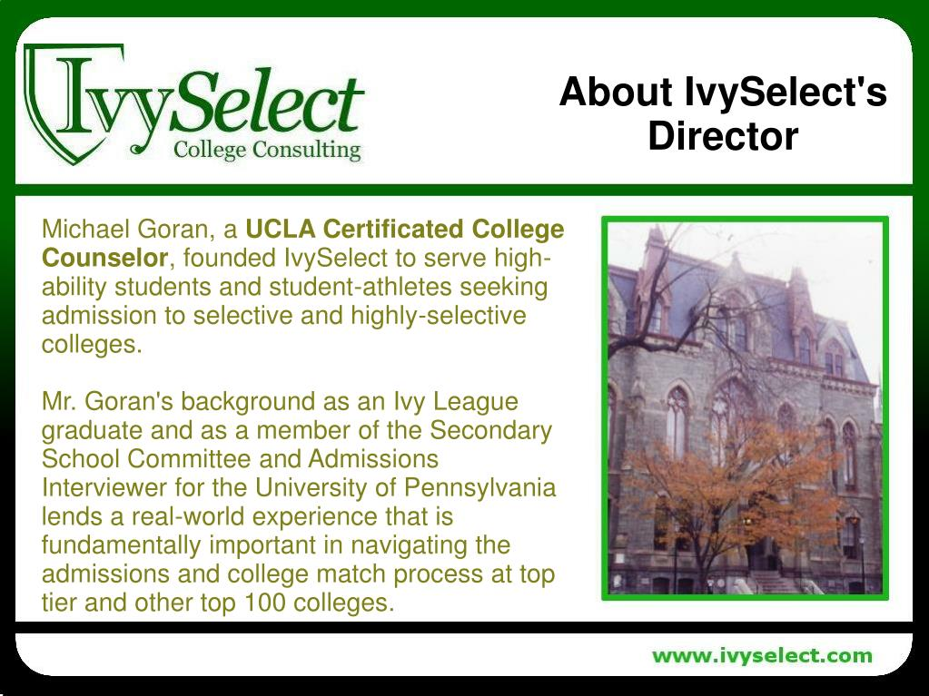 About IvySelect's Director