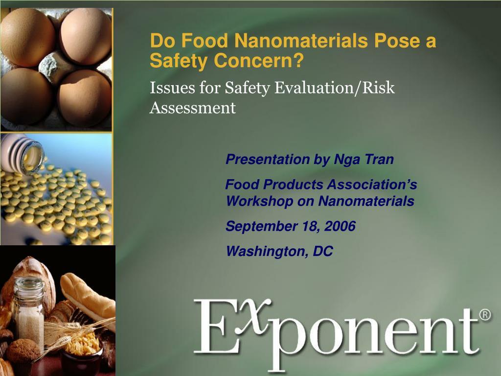 Do Food Nanomaterials Pose a Safety Concern?