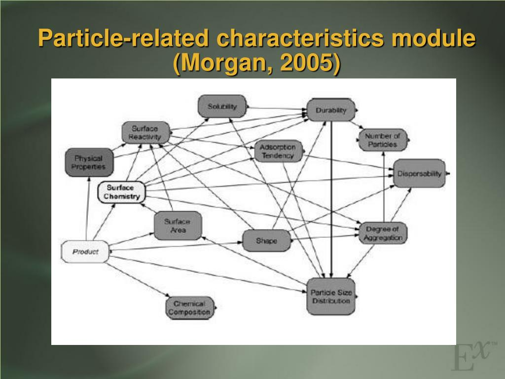 Particle-related characteristics module (Morgan, 2005)