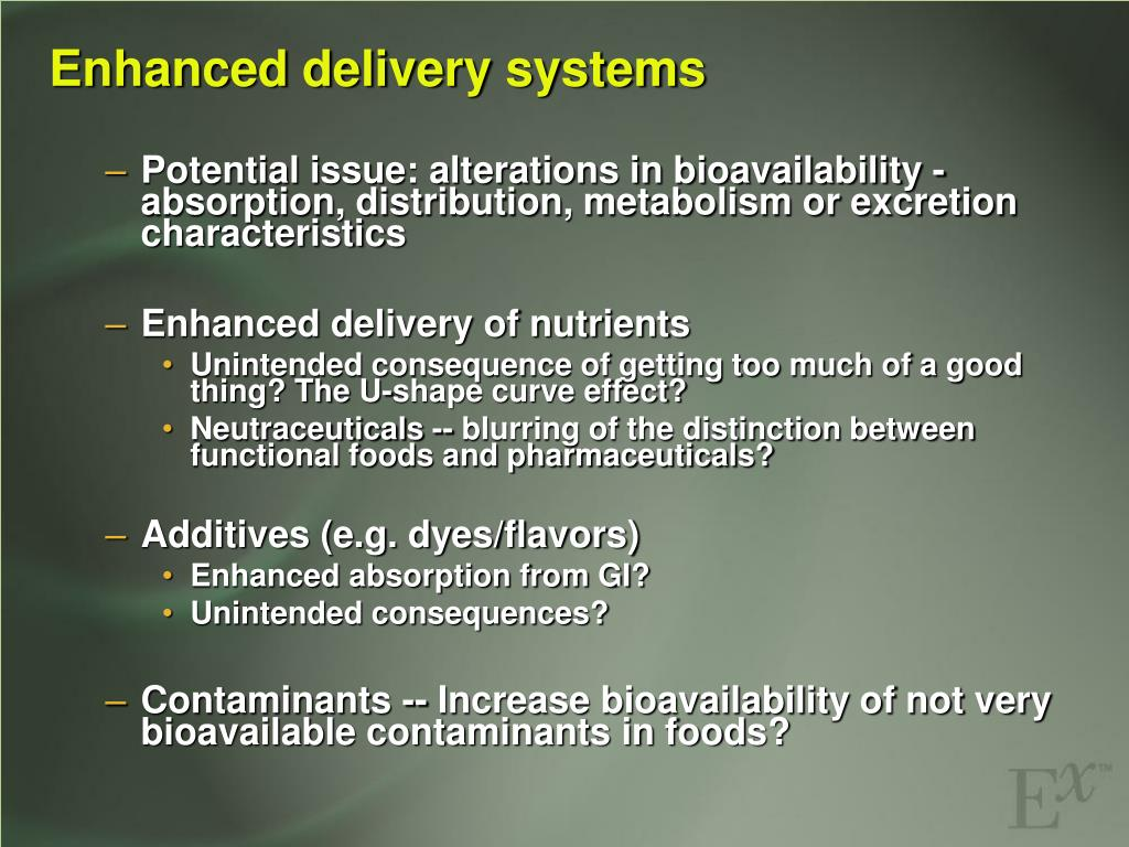 Enhanced delivery systems