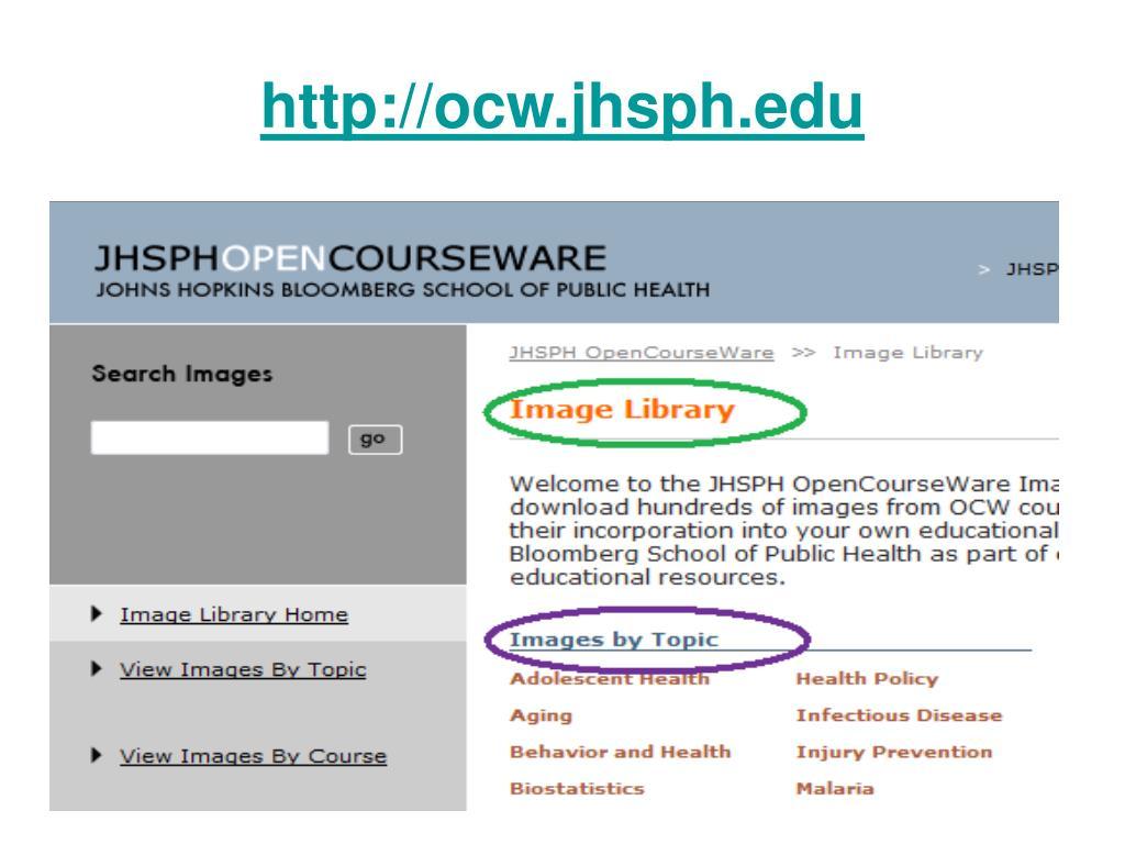 http://ocw.jhsph.edu